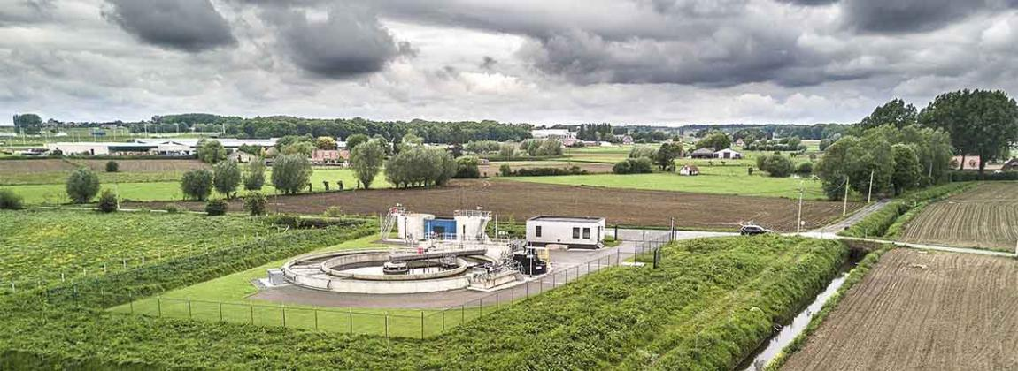 wastewater treatment plant built by Aquafin in Flanders